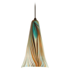 Wac Lighting Artisan Collection Dark Bronze Mini-Pendant with Conical Shade