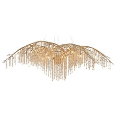 Golden Lighting Autumn Twilight Mystic Gold Chandelier