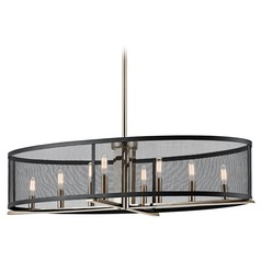 Kichler Lighting Titus Polished Nickel Pendant Light with Oval Shade