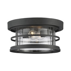 Savoy House Lighting Barrett Black Close To Ceiling Light