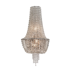 Corbett Lighting Vixen Polished Nickel Jewerly Chain Sconce