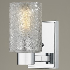Ice Glass Sconce Chrome