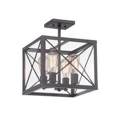 Designers Fountain High Line Satin Bronze Semi-Flushmount Light