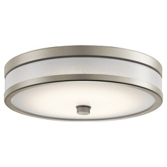 Modern LED Flushmount Light Brushed Nickel Pira by Kichler Lighting