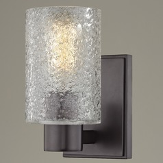 Ice Glass Sconce Bronze