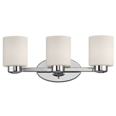 Three-Light Bath Light Chrome 19.25-Inch Wide