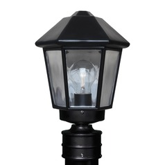 Post Light Black Costaluz by Besa Lighting
