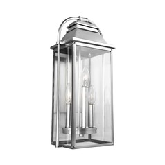 Feiss Lighting Wellsworth Painted Brushed Steel Outdoor Wall Light
