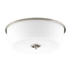 Progress Lighting Progress Modern Flushmount Light with White Glass P3798-09