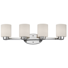 Four-Light Bath Light Chrome 26.75-Inch Wide