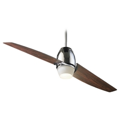 Quorum Lighting Muse Chrome Ceiling Fan with Light
