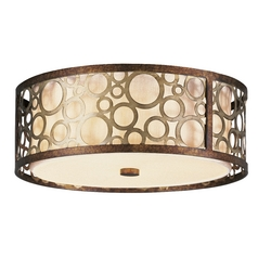 Livex Lighting Avalon Palacial Bronze with Gilded Accents Flushmount Light