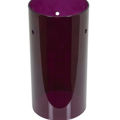Plum Cylindrical Glass Shade
