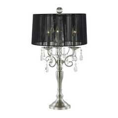 Ashford Classics Lighting Crystal Chandelier Table Lamp with Drum Shade 2239-09