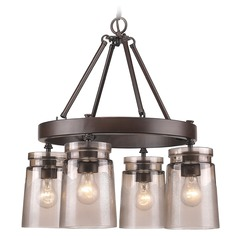 Golden Lighting Travers Rubbed Bronze Chandelier