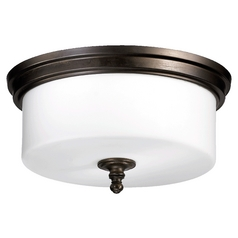 Quorum Lighting Rockwood Oiled Bronze Flushmount Light