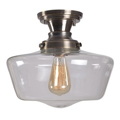 Kenroy Home Cambridge Aged Metal Semi-Flushmount Light