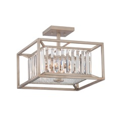 Designers Fountain Linares Aged Platinum Semi-Flushmount Light