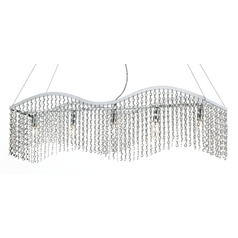 Ashford Classics Lighting Crystal Linear Chandelier Pendant Light 2240