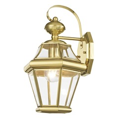 Livex Lighting Georgetown Polished Brass Outdoor Wall Light