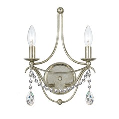 Crystorama Lighting Hot Deal Antique Silver Sconce
