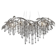 Golden Lighting Autumn Twilight Mystic Silver Chandelier