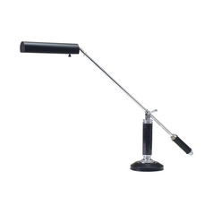 Piano / Banker Lamp in Black & Chrome Finish