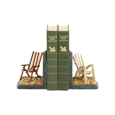 Beach Chair Decorative Bookends