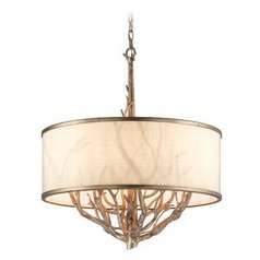 Troy Lighting Whitman Vienna Bronze Pendant Light with Drum Shade