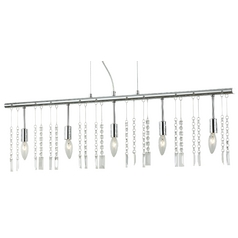 Crystal Linear Chandelier Pendant Light with Five Lights