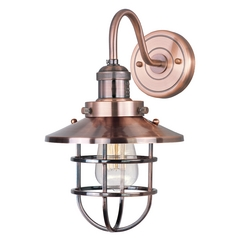 Maxim Lighting Mini Hi-Bay Antique Copper Sconce