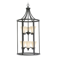 Sea Gull Lighting Somerton Blacksmith Pendant Light with Bell Shade