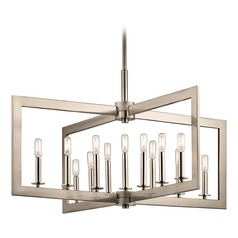 Industrial Linear Chandelier Pewter Cullen by Kichler Lighting