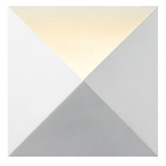 Sonneman Prism Textured White LED Sconce