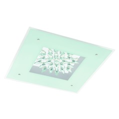 Eglo Benalua White W/ Clear Trim LED Flushmount Light