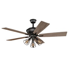 Clybourn Bronze Ceiling Fan with Light by Vaxcel Lighting