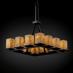 Justice Design Group Alabaster Rocks! Collection Chandelier