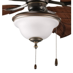 Frosted Seeded Glass Ceiling Fan Light Kit Bronze Progress Lighting