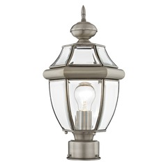 Livex Lighting Monterey Brushed Nickel Post Light