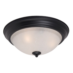 Maxim Lighting Essentials Black Flushmount Light