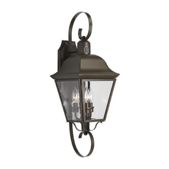 Progress Outdoor Wall Light with Clear Glass in Antique Bronze Finish
