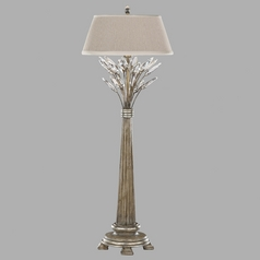 Fine Art Lamps Crystal Laurel Antiqued Warm Silver Leaf Console & Buffet Lamp with Empire Shade