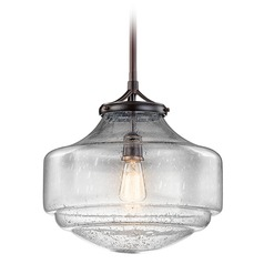 Kichler Lighting Keller Pendant Light with Bowl / Dome Shade