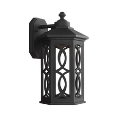 Sea Gull Lighting Ormsby Black LED Outdoor Wall Light