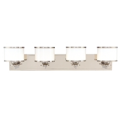 Modern Transitional Bathroom Light Satin Nickel Basking Ridge by Hudson Valley