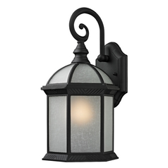 Traditional Black Hexagon Outdoor Wall Light