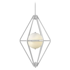 Frederick Ramond Spectra Cloud Pendant Light with Globe Shade