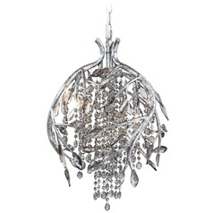 Golden Lighting Autumn Twilight Mystic Silver Pendant Light