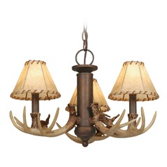 Lodge Weathered Patina Mini-Chandelier by Vaxcel Lighting