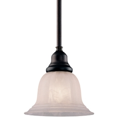 Mini-Pendant Light with Alabaster Glass